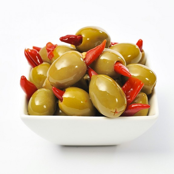 Chilli stuffed Colossal Olives from Olives Direct