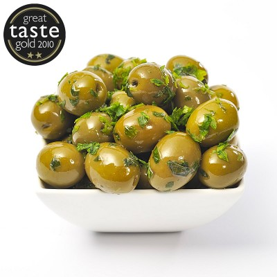 Basil & Garlic Whole Olives