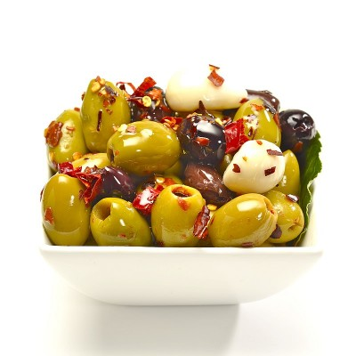 Pitted olives in our own Awfully Chilli marinade