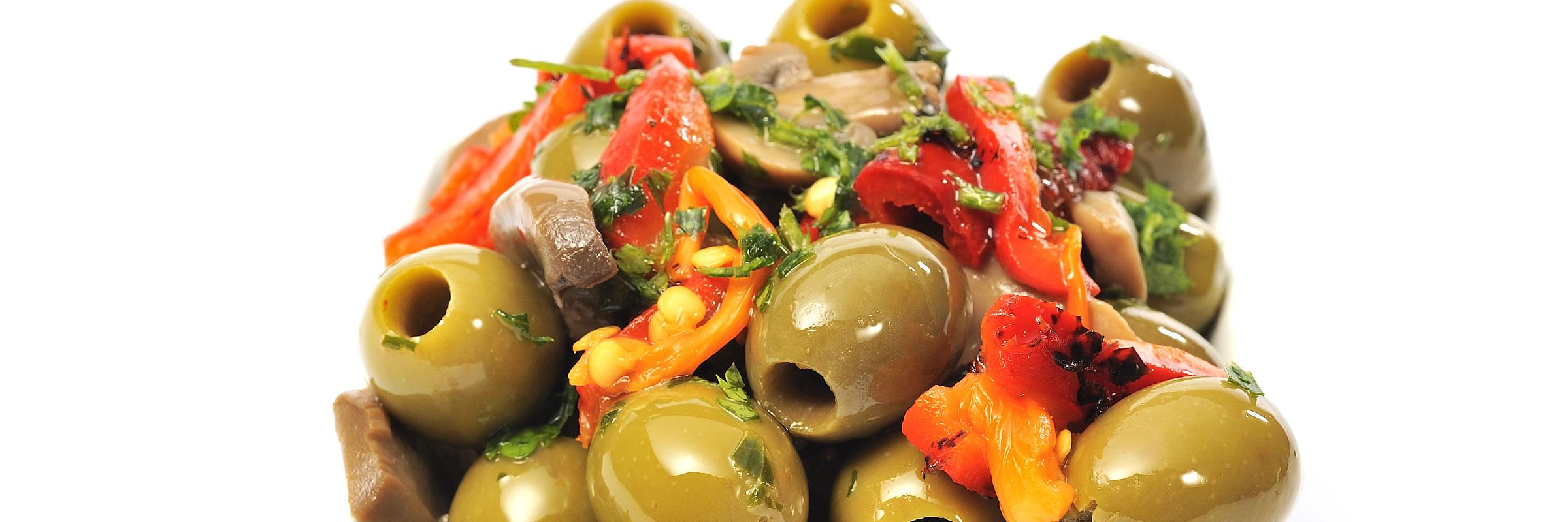Fresh Olives Marinated