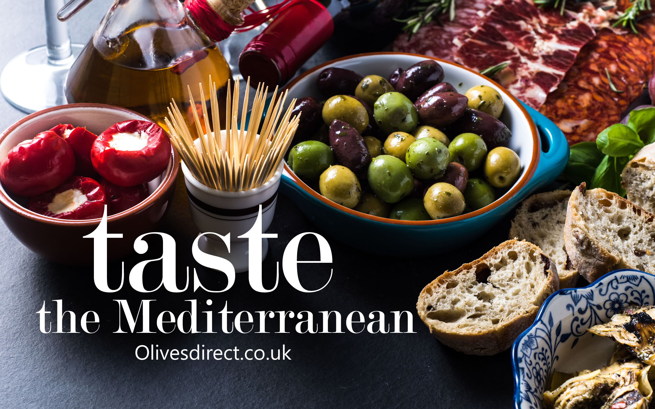 Olives, Anti Pasti, Oils and Vinegars from Olives Direct